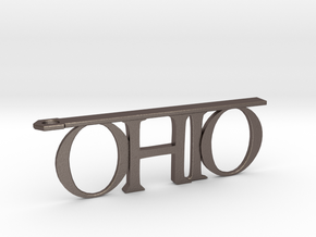 Ohio Bottle Opener Keychain in Stainless Steel
