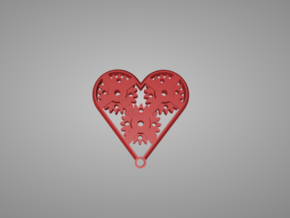 Geared Heart in Red Processed Versatile Plastic
