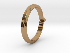Shapesweeper Hexagonal Basic Ring in Polished Brass: 5.5 / 50.25