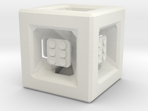 Cube Die in White Natural Versatile Plastic