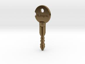 """Wynonna Earp """"Athena"""" Key in Polished Bronze"""