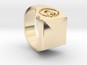 ring pyramid mystical in 14k Gold Plated Brass