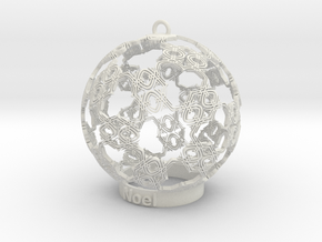 noel Ornament in White Natural Versatile Plastic
