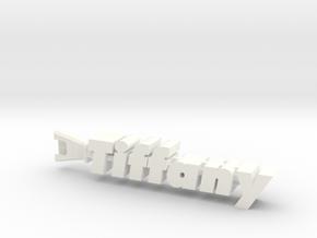Tiffany in White Processed Versatile Plastic