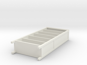 Miniature HEMNES Bookcase - IKEA in White Natural Versatile Plastic: 1:12