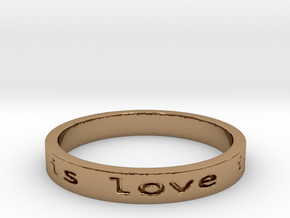 love is all you need  mon Ring Size 8.25 in Polished Brass