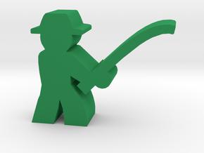 Game Piece, Fisherman in Green Processed Versatile Plastic