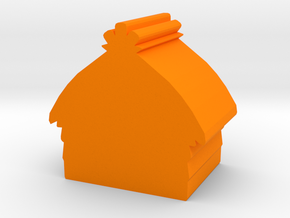 Game Piece, Hut in Orange Processed Versatile Plastic