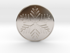 Snowflake Coaster in Rhodium Plated Brass