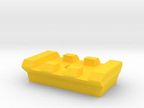 3 Slots Rail for Tripod in Yellow Processed Versatile Plastic