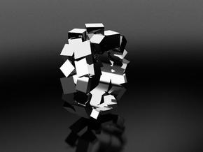 Ring Double Prisms  Patricia (from $15) in Polished Silver