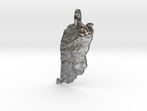 Outer Island, Apostles Map Pendant in Polished Silver