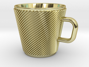 Espresso Cup - Precious metals in 18k Gold Plated Brass