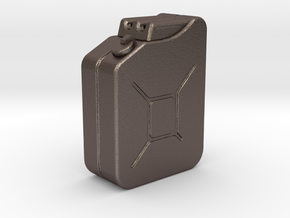 1:35th Scale Jerry Can in Polished Bronzed Silver Steel