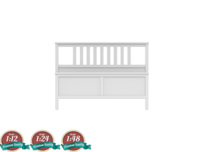 Miniature HEMNES Bedframe - IKEA in White Natural Versatile Plastic: 1:24