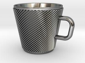 Espresso Cup - Precious metals in Polished Silver