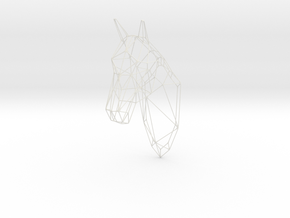 Horse Head Wireframe 25in in White Natural Versatile Plastic