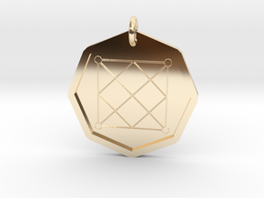 Seal of Mercury in 14k Gold Plated Brass