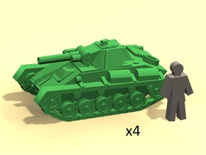 6mm Soviet tank T-70 (4) in Smoothest Fine Detail Plastic