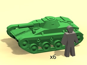 6mm T-60 tanks in Smoothest Fine Detail Plastic