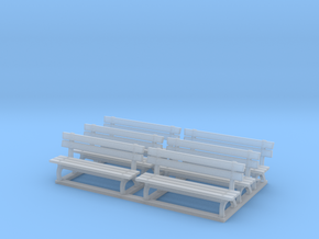 Park bench 01. 1:64 Scale  in Frosted Ultra Detail