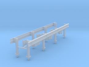 1/50th Set of two 20' Highway Guardrails in Smooth Fine Detail Plastic