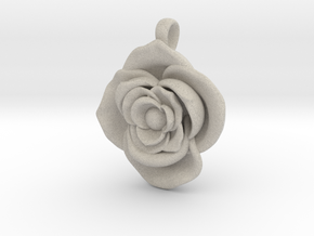 Large Rose  in Natural Sandstone