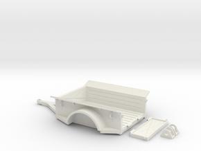 1:35th Scale Utility trailer in White Natural Versatile Plastic