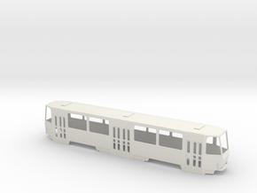 Tatra B6A2 0 Scale [body] in White Natural Versatile Plastic: 1:48