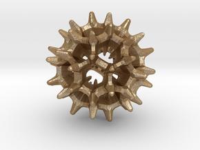 virus I 27mm in Matte Gold Steel