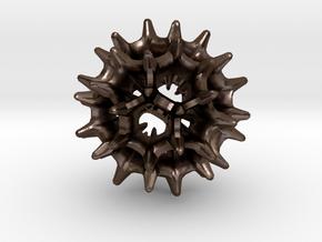 virus I 27mm in Polished Bronze Steel