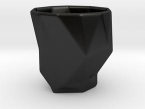 Polygonal Espresso Coffee Input Device in Matte Black Porcelain
