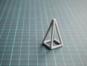 Pyramid Wireframe in Polished Metallic Plastic