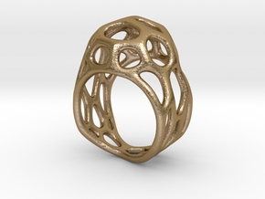 Ring Gemmi in Polished Gold Steel: 7 / 54