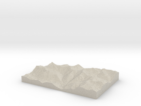 Model of Park Creek in Natural Sandstone