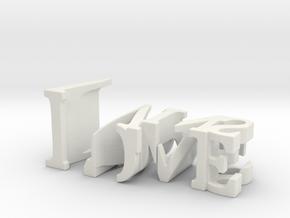 3dWordFlip: Love/Wins in White Natural Versatile Plastic