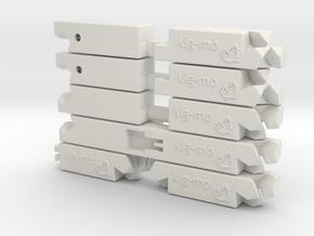 kig-mo Starter Pack in White Natural Versatile Plastic