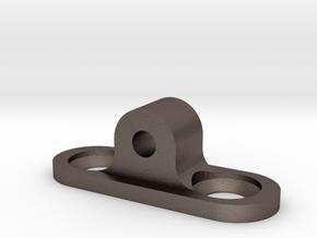 SKS Rear Sling Hardpoint Converter in Polished Bronzed Silver Steel