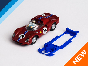 1/32 Carrera Ferrari 365 P2 Chassis for IL pod in Blue Strong & Flexible Polished
