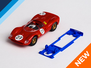 1/32 SCX Ferrari GT 330 Chassis for Slot.it SW pod in Blue Strong & Flexible Polished