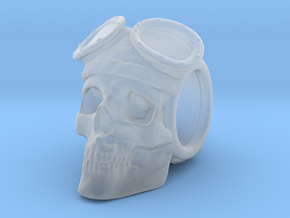 """The Lost Aviator"" Skull Bead in Smooth Fine Detail Plastic"