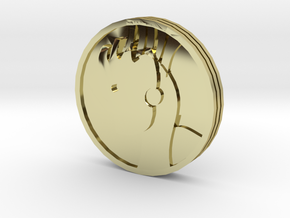 Pyre Coin Sun Gold in 18k Gold Plated Brass