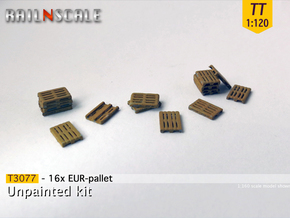 16x EUR-pallet (TT 1:120) in Smooth Fine Detail Plastic