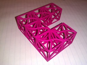 Twirl cubed puzzle part #1 in Pink Strong & Flexible Polished
