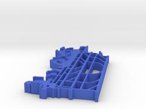 Seattle (KSEA) Airport 1:30000 in Blue Processed Versatile Plastic