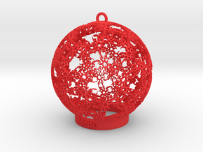 Hope Ornament in Red Strong & Flexible Polished: Medium