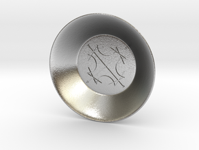 Seal of the Sun Charging Bowl (small) in Natural Silver
