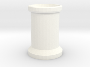 Smoke Stack 2 Bricks Tall in White Processed Versatile Plastic