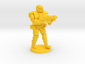 Super Soldier In Heavy Armor in Yellow Processed Versatile Plastic