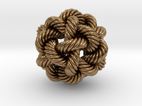 Rope Bead (L) in Natural Brass